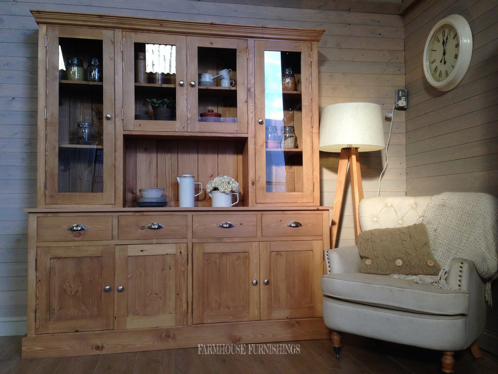 Solid Pine And Oak Welsh Dresser Farmhouse Furnishings