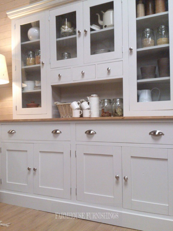 Beautiful Painted Welsh Dresser Farmhouse Furnishings
