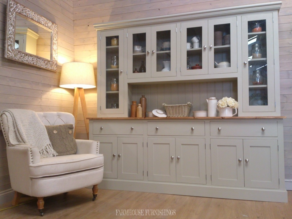 Solid Pine Painted Welsh Dresser Farmhouse Furnishings