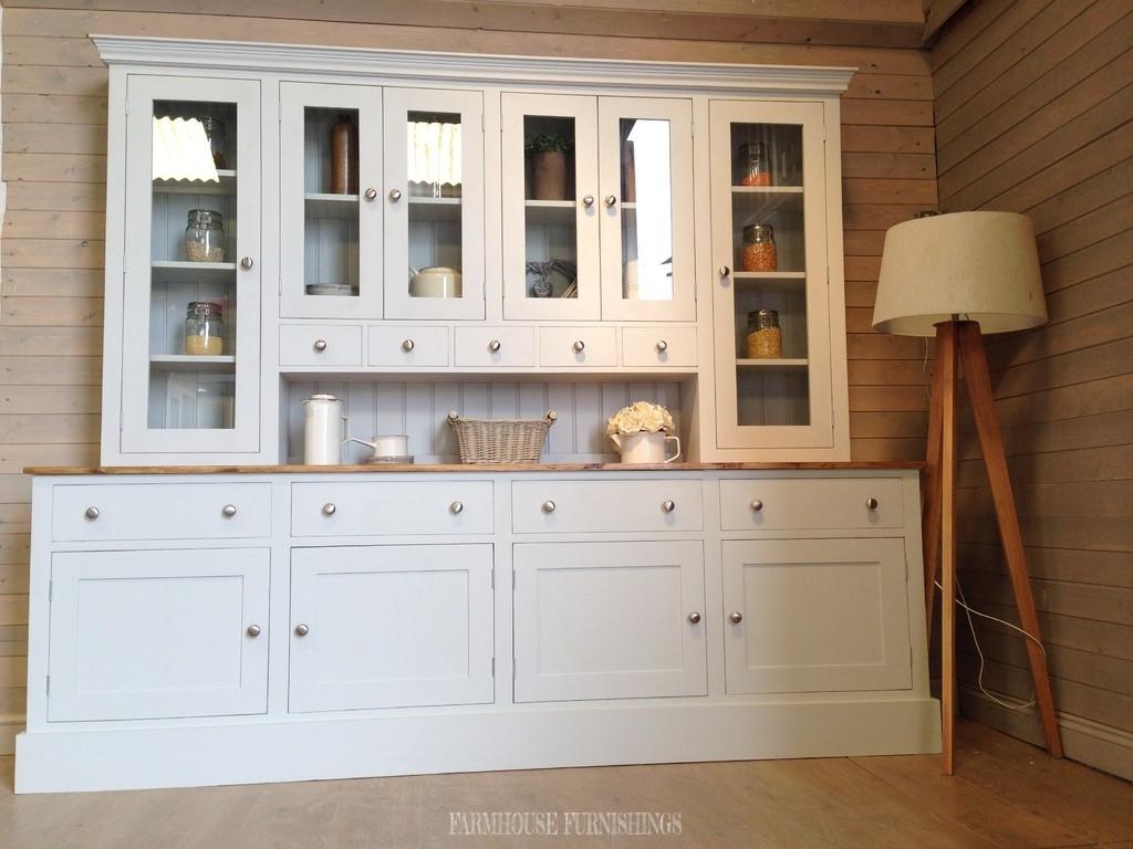 Solid Pine 8ft Welsh Dresser Farmhouse Furnishings