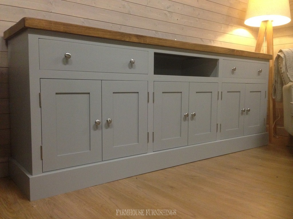 Pine Sideboards for Sale, Huge 7ft Plank Top Sideboard/TV ...