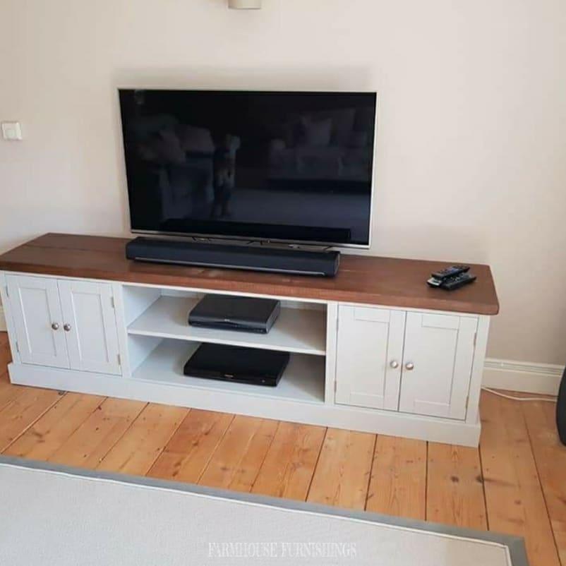 TV plank top unit cabinet