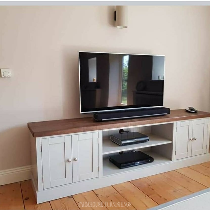 6 ft Plank Top TV cabinet